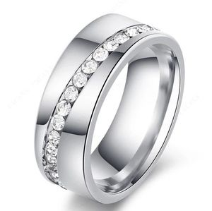 Stainless Steel Ring Unisex Band Ring